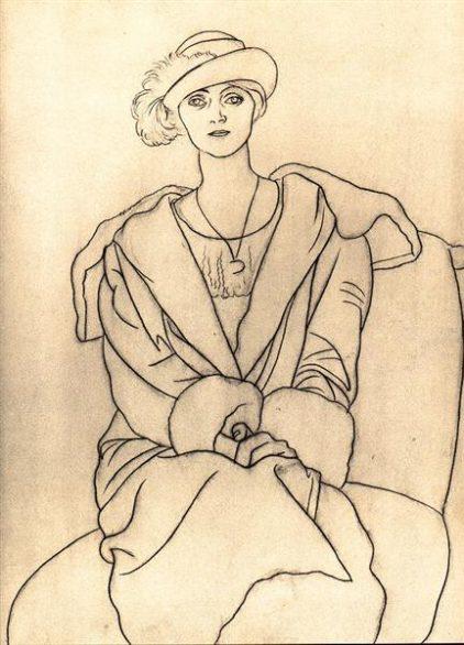 Olga col cappello e cappotto.. ritratto di una musa e di un amore...